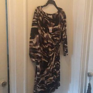Calvin Klein faux wrap dress 👗
